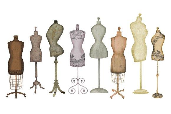 Vintage Dress Form Clip Art ...