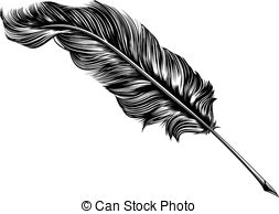 ... Vintage feather quill pen illustration - An original.