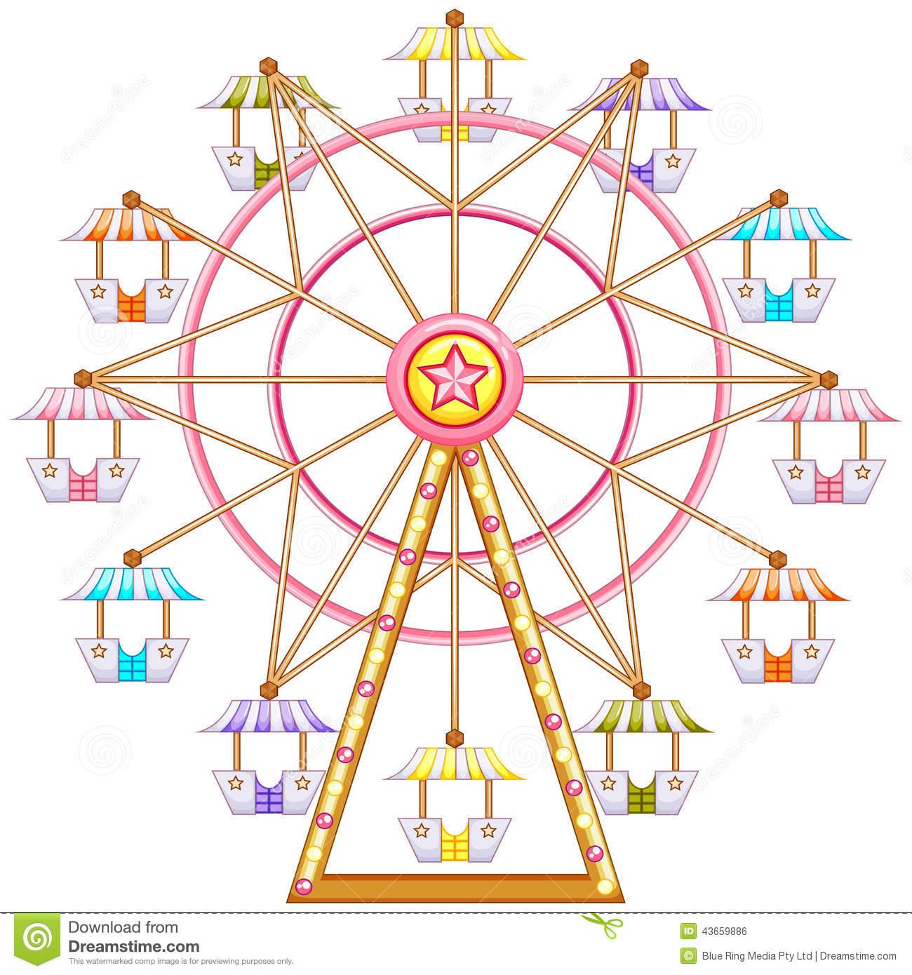 Vintage Ferris Wheel Clipart - Ferris Wheel Clip Art