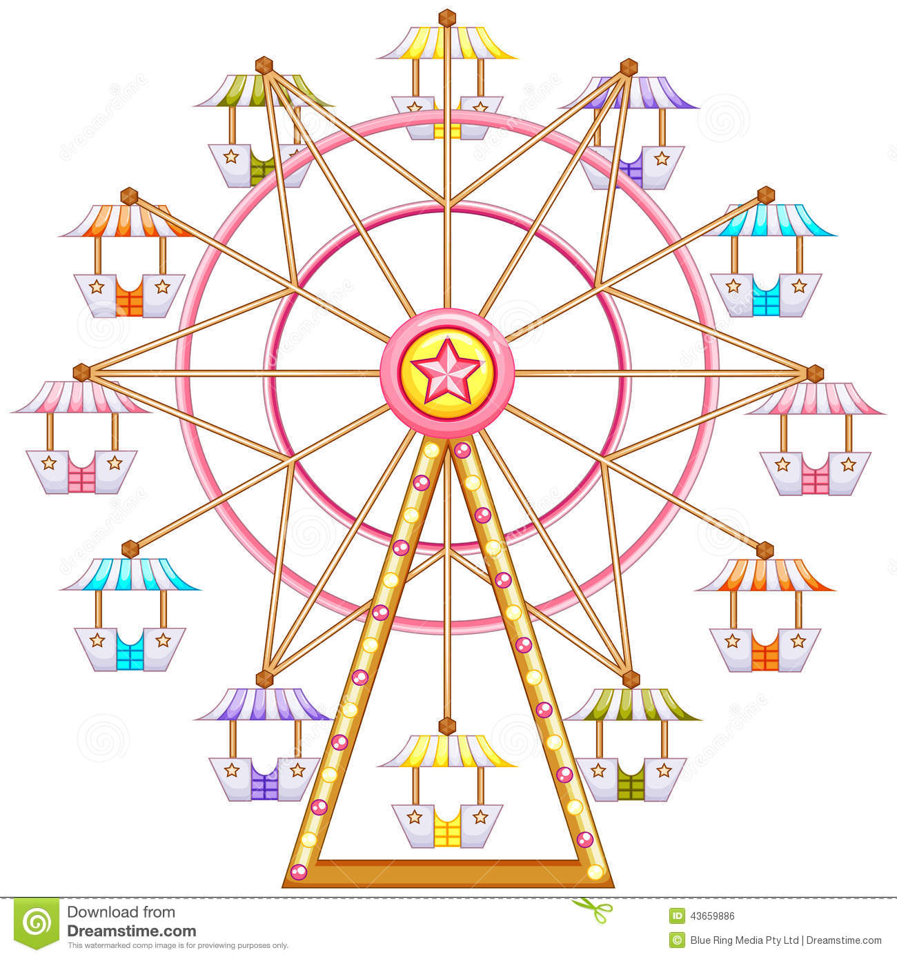Vintage Ferris Wheel Clipart