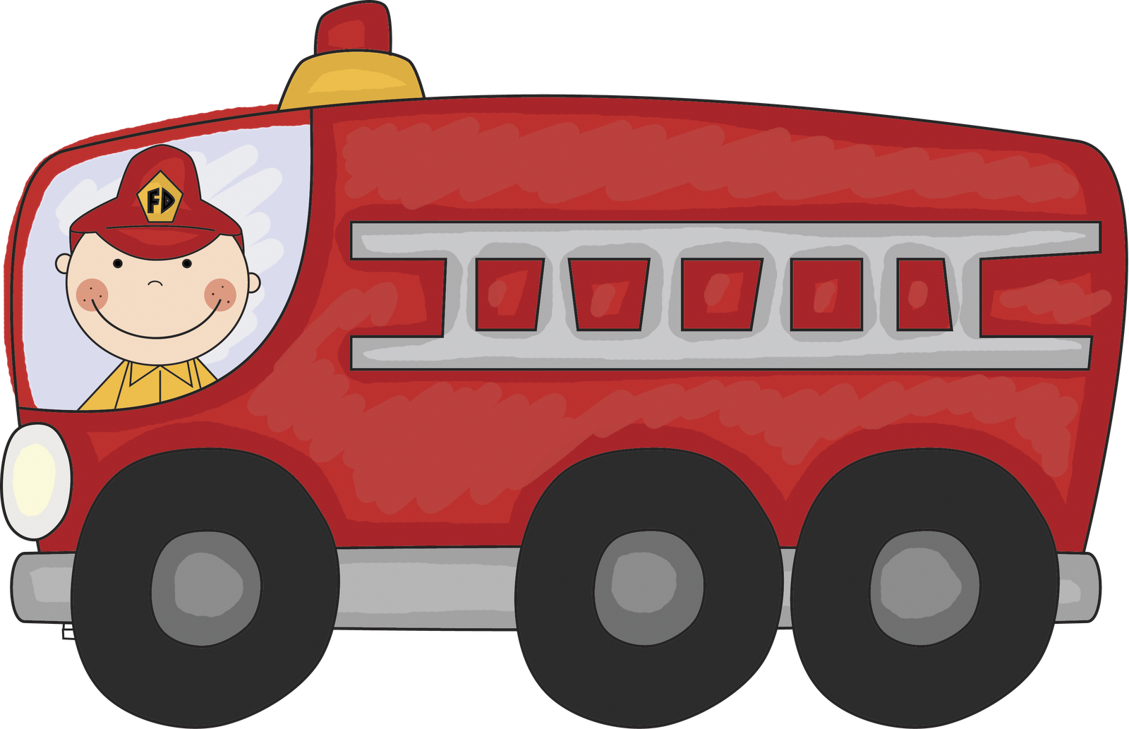 Vintage fire truck clipart free clipart images