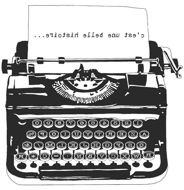 vintage French typewriter .-vintage French typewriter .-8