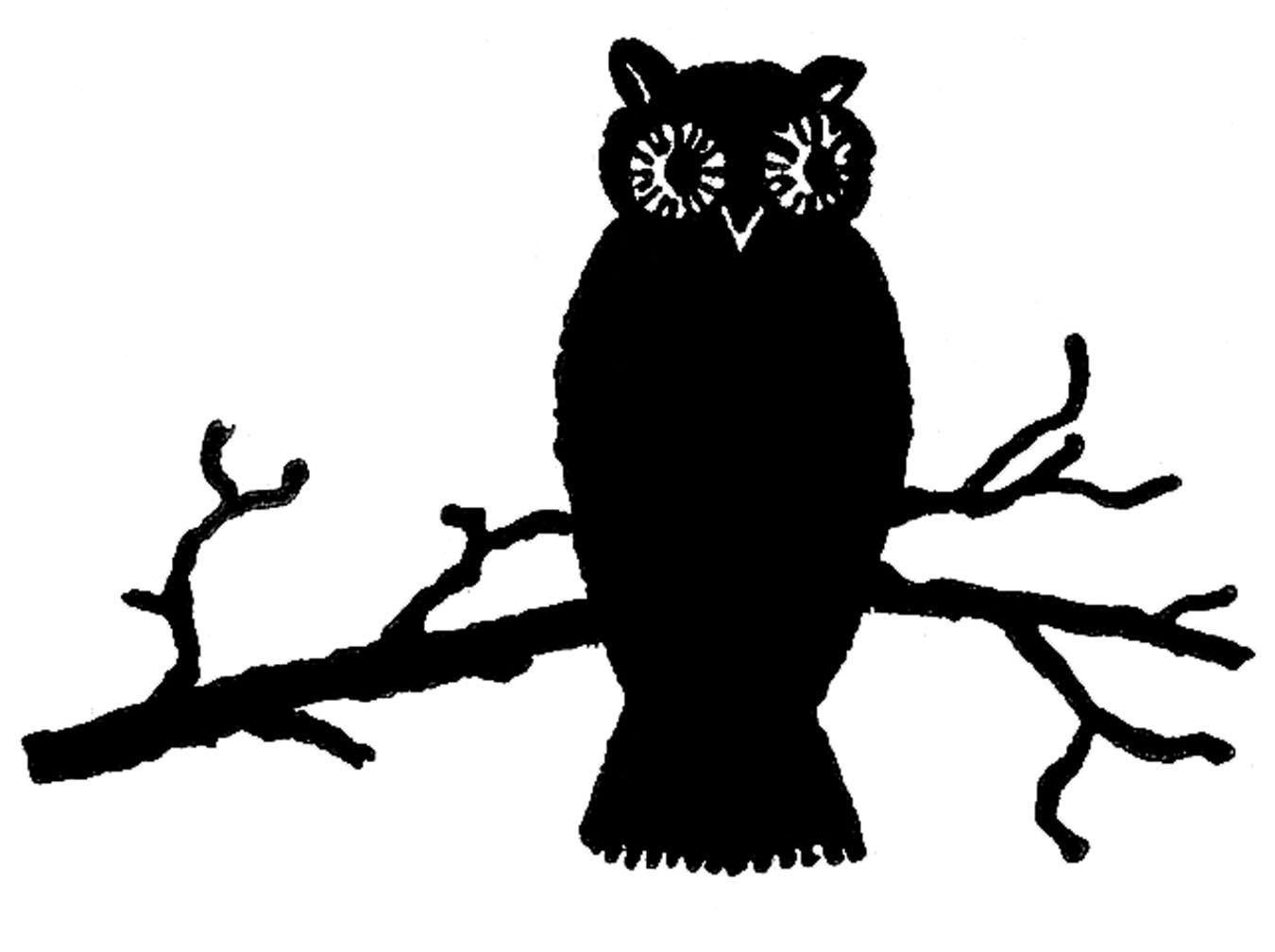 Vintage Halloween Clip Art Cute Owl Silh-Vintage Halloween Clip Art Cute Owl Silhouette The Graphics Fairy-12