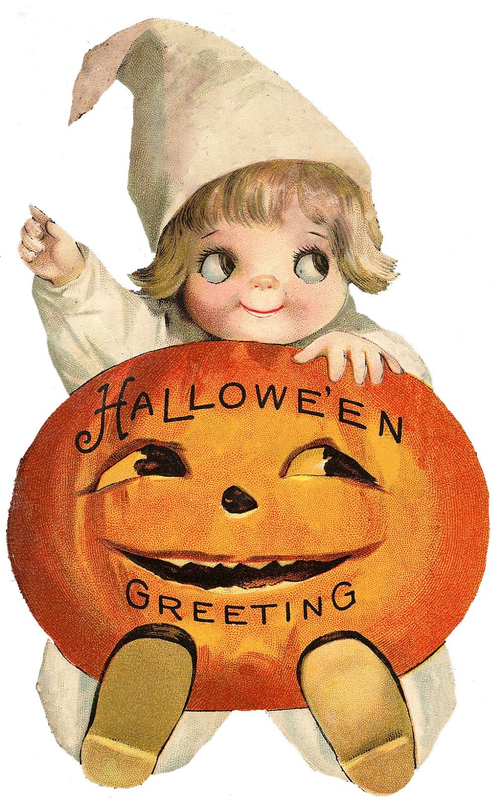 Vintage Halloween Clip Art U2013 Googly -Vintage Halloween Clip Art u2013 Googly Eye Pumpkin Girl-14