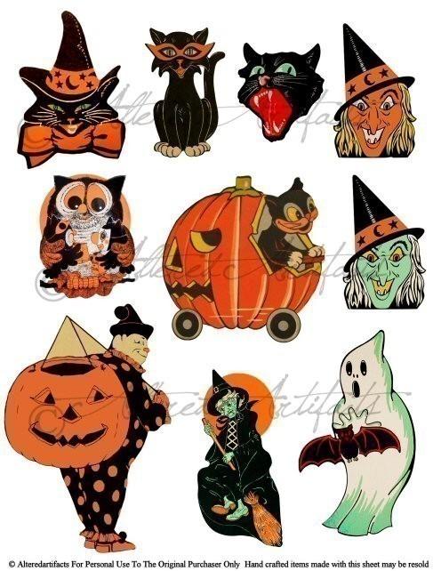 Vintage Halloween Clip Art ..-Vintage Halloween Clip Art ..-15