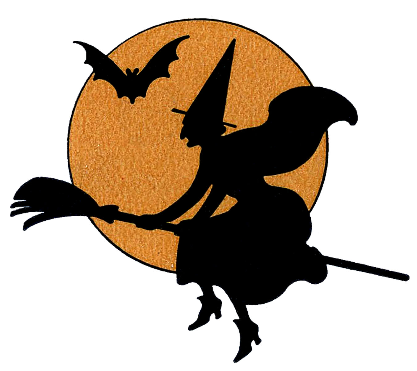 Vintage Halloween Clip Art Witch With Mo-Vintage Halloween Clip Art Witch With Moon The Graphics Fairy-13
