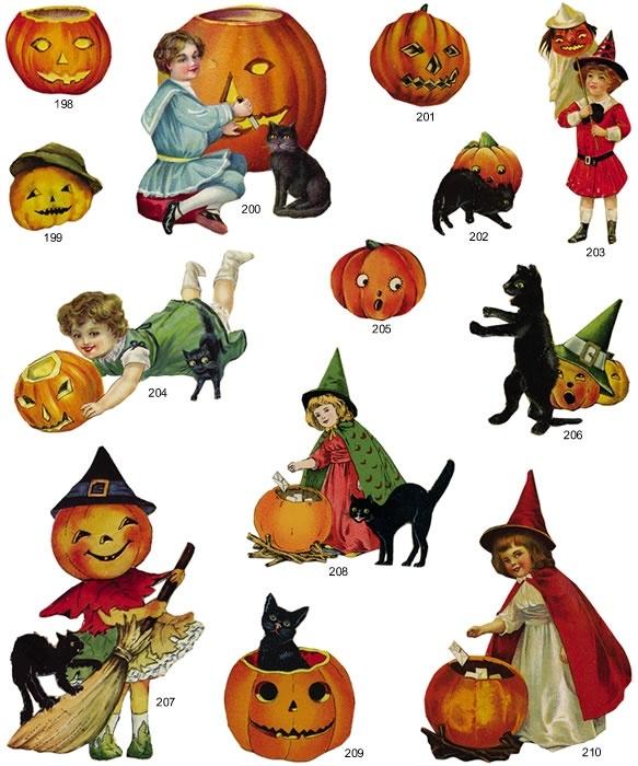 Vintage Halloween Clipart Free .-vintage halloween clipart free .-16