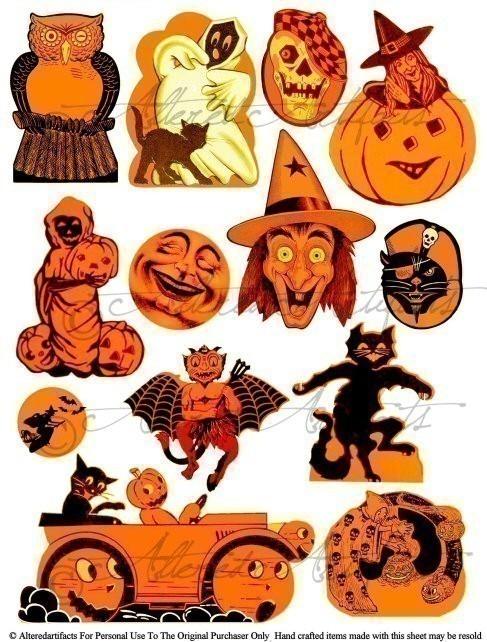 Vintage Halloween, Collage .-Vintage halloween, Collage .-17