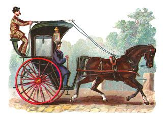 vintage horse and buggy clip art - Antique Images