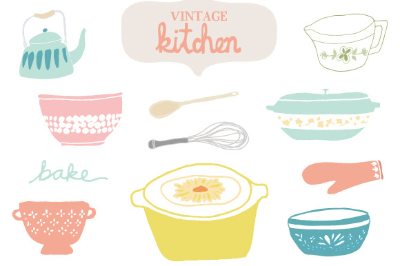 Vintage Kitchen Clip Art ..