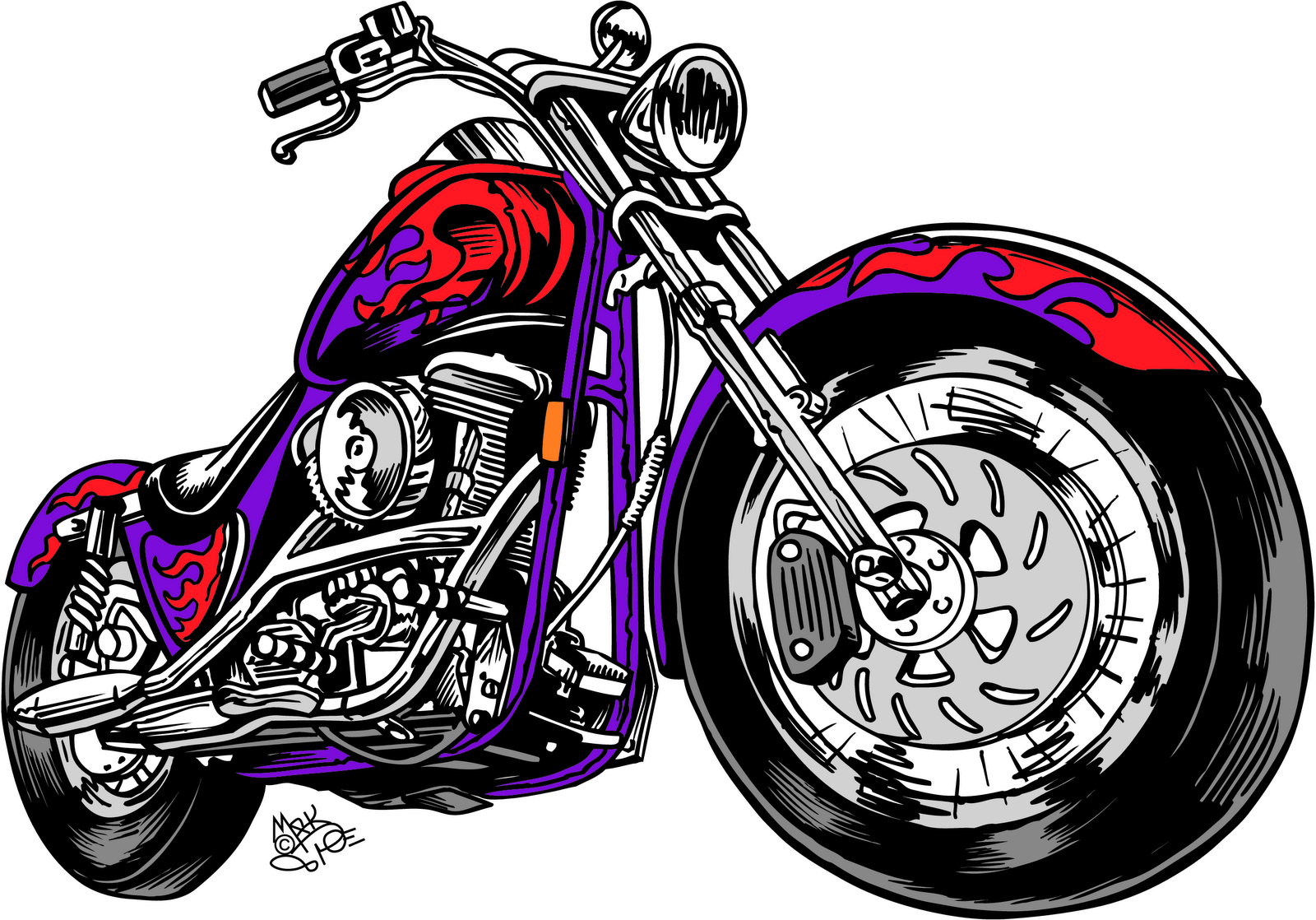Vintage Motorcycle Clipart Black And White Clipart Panda Free