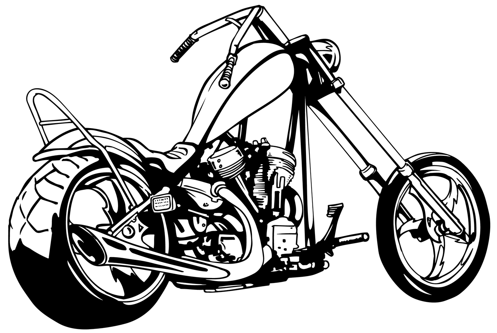Vintage Motorcycle Clipart Black And Whi-Vintage Motorcycle Clipart Black And White Clipart Panda Free-19