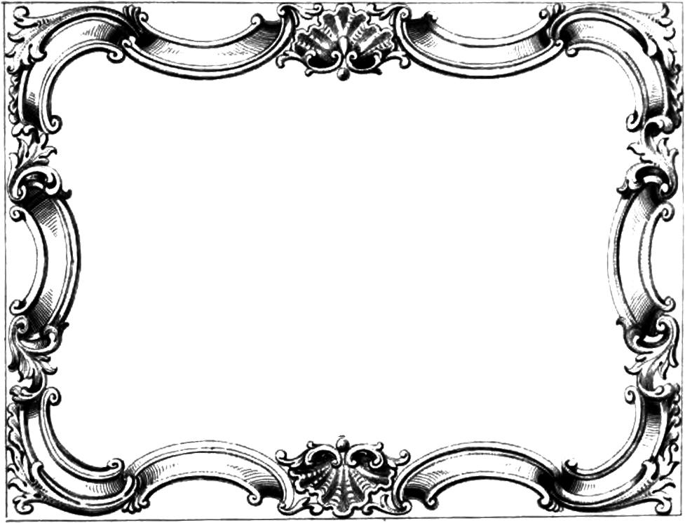 Vintage Ornate Border Frame u - Clipart Frames And Borders