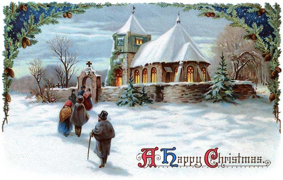 Vintage Religious Christmas Clipart (04)