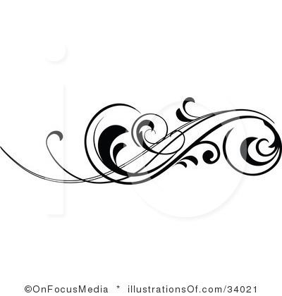 Vintage Scroll Frame Clip Art - Decorative Scroll Clip Art Free