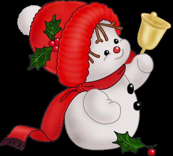 Vintage Snowman Clip Art ..