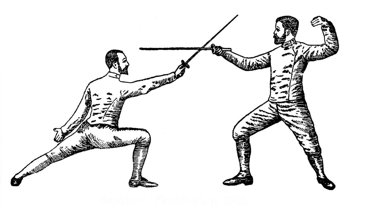 Vintage Sports Clip Art u2013 Fencing, T-Vintage Sports Clip Art u2013 Fencing, Tennis?, Golf-14