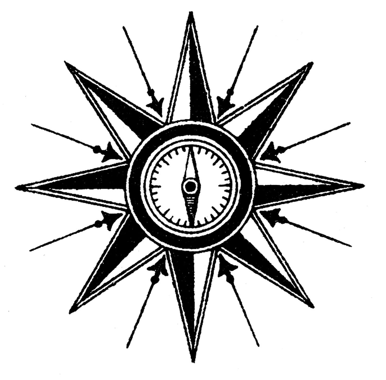 Vintage Steampunk Clip Art U2013 Compass-Vintage Steampunk Clip Art u2013 Compass Rose-18