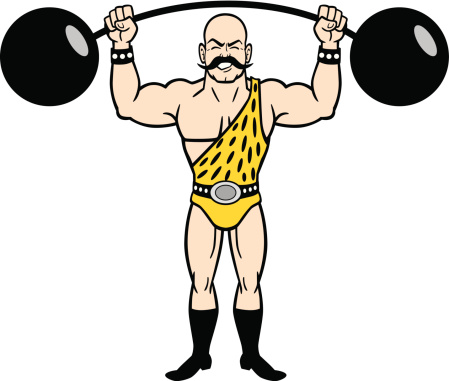 Vintage Strongman Vector Art .-Vintage Strongman vector art .-17