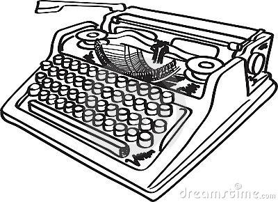 vintage typewriter clip art . 88c7236adc91fec4e0e181b5da947f .