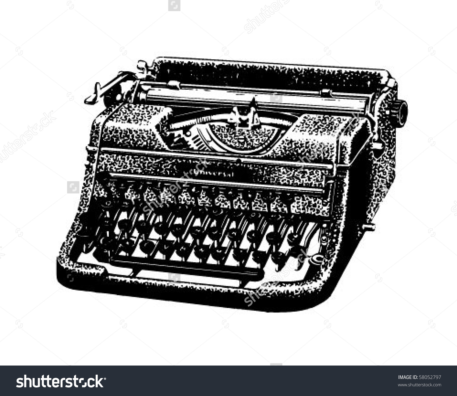 Vintage Typewriter - Retro Clip Art