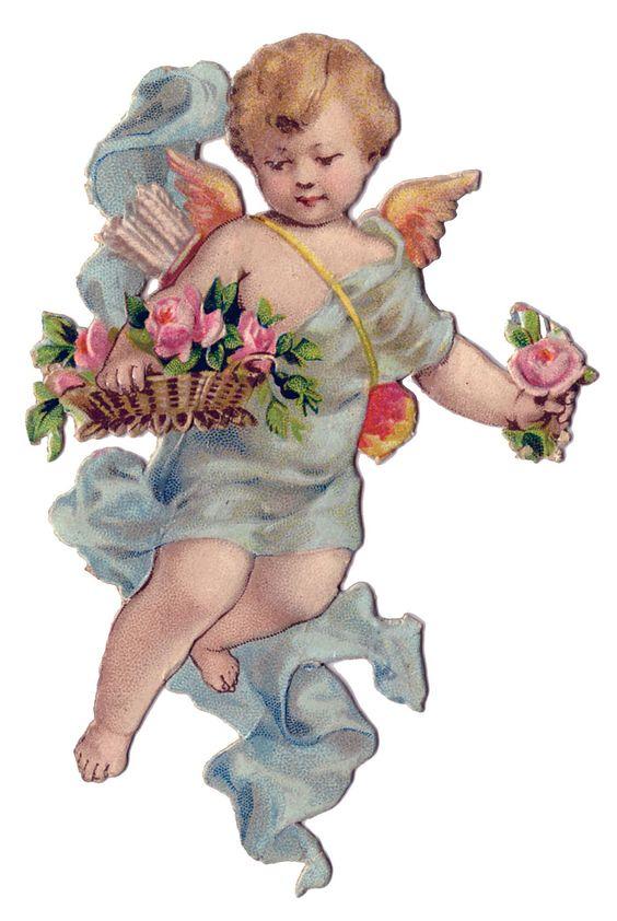 Vintage Valentineu0026#39;s Day Clip Art-Vintage Valentineu0026#39;s Day Clip Art - Sweet Cherub - The Graphics Fairy-17