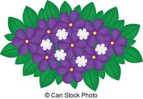 . ClipartLook.com Violet bouquet - vector