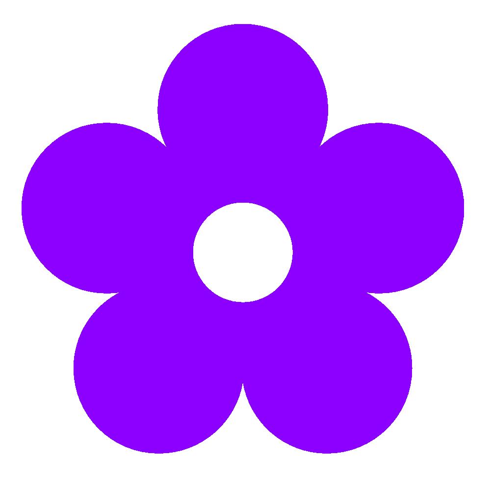 violet flower clip art #5