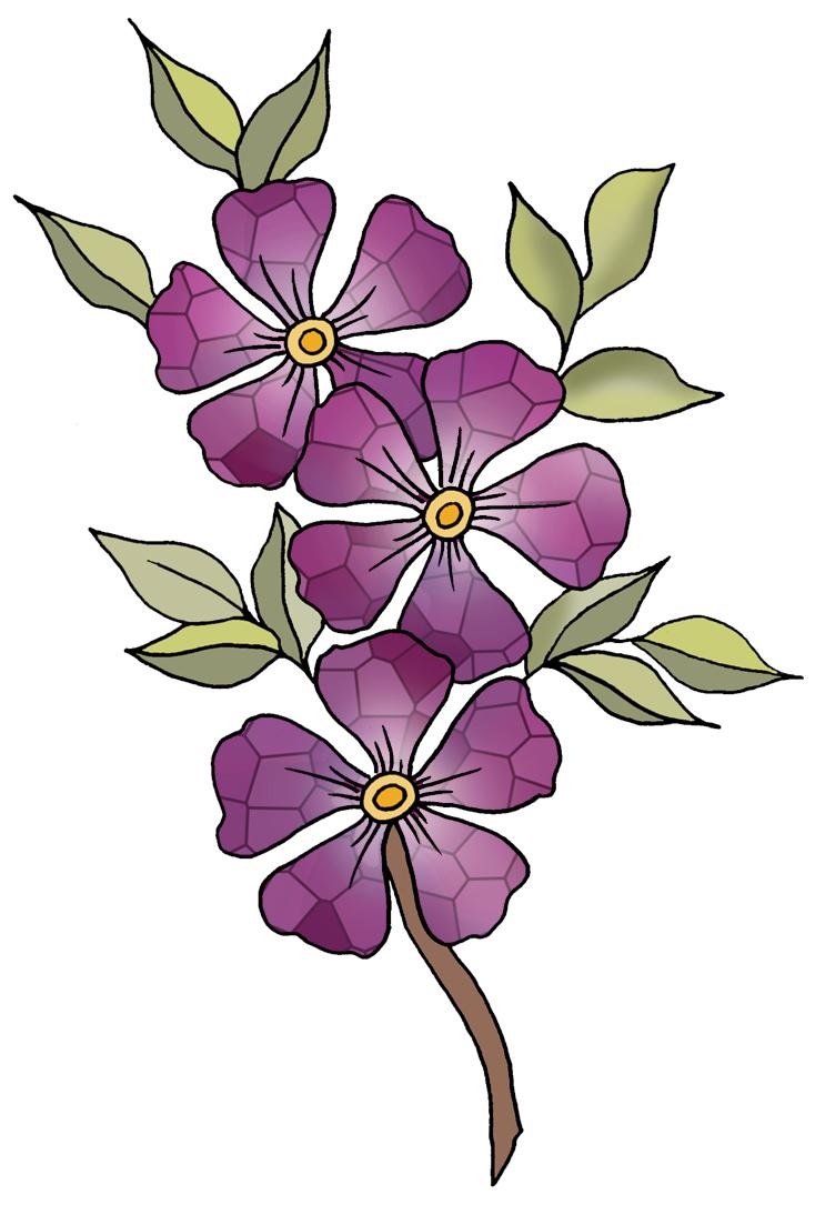 Violet Flower Clip Art Clipart Best