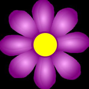 Violet Flower Clip Art