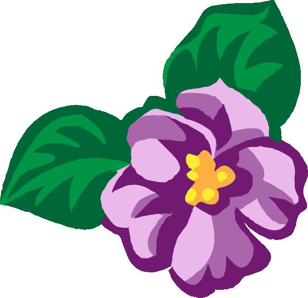 Violet Flower Clip Art-Violet Flower Clip Art-1
