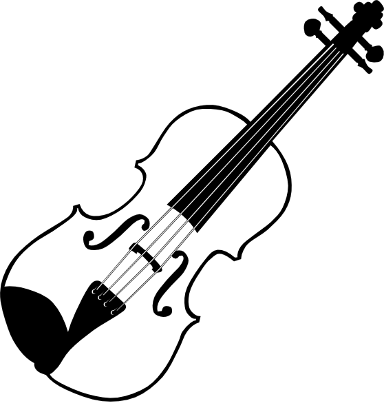 Violin Clipart Black And White-violin clipart black and white-6