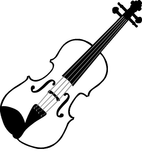 Violin Clipart Black And White-violin clipart black and white-4