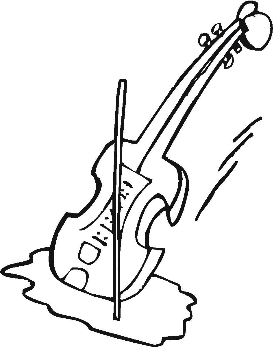 Violin Clipart Black And White-violin clipart black and white-5