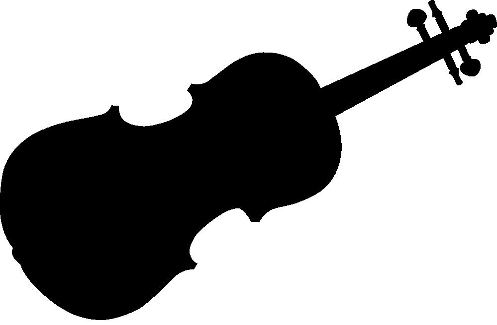 Violin Clipart Black And White-violin clipart black and white-7