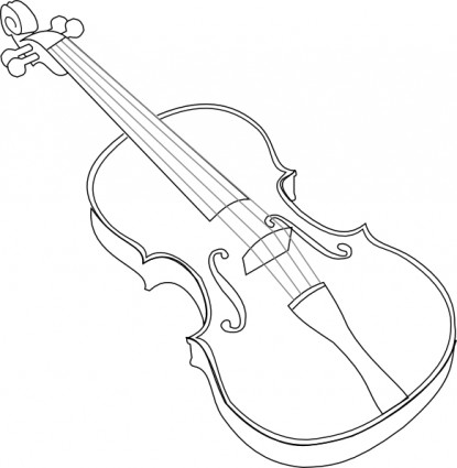Violin clip art Free vector .