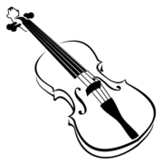 Animal Playing Violin · Line Art Blak and White Violin