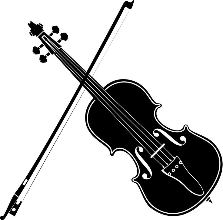 Violin, Clipart black and .