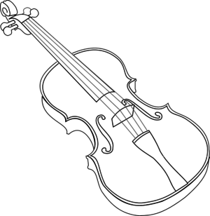 Violin Clipart Black And White ... Large PNG SVG Edit Clipart