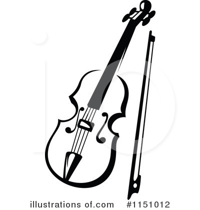 Violin Clipart Black And White Royalty Free Rf Violin Clipart Illust
