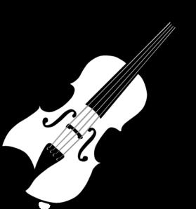 Black White Violin Clip Art-Black White Violin Clip Art-1