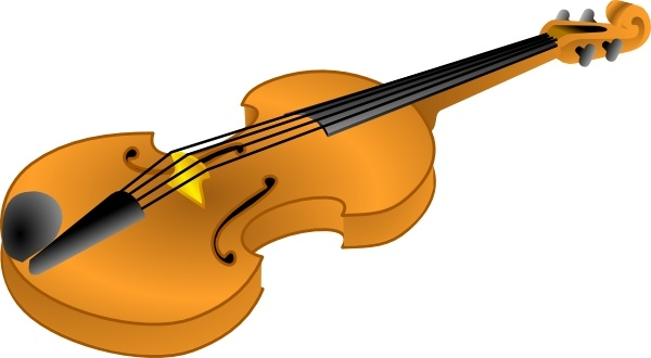 Brown Violin Clip Art-Brown Violin clip art-2