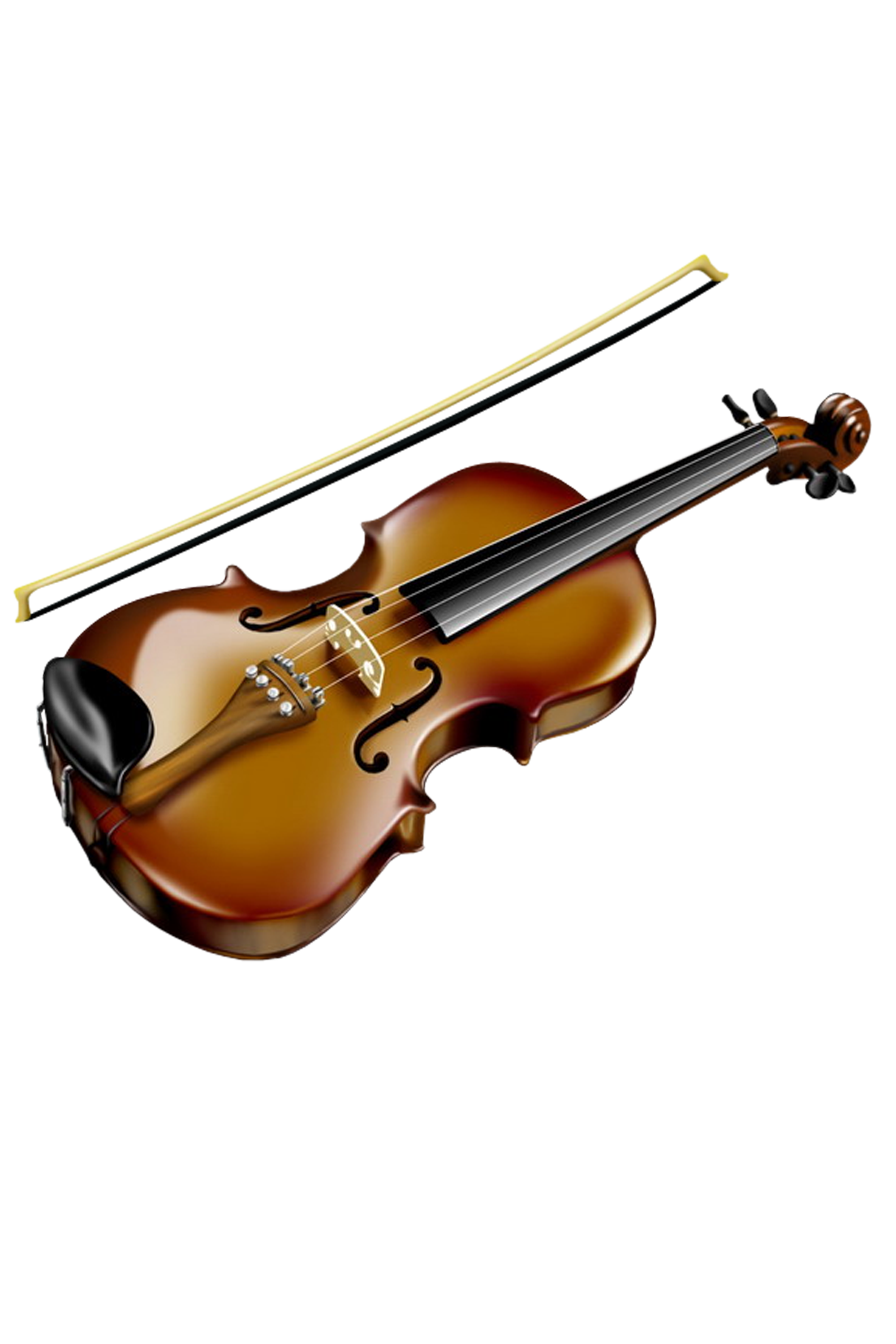 Download PNG image - Violin Clipart 581