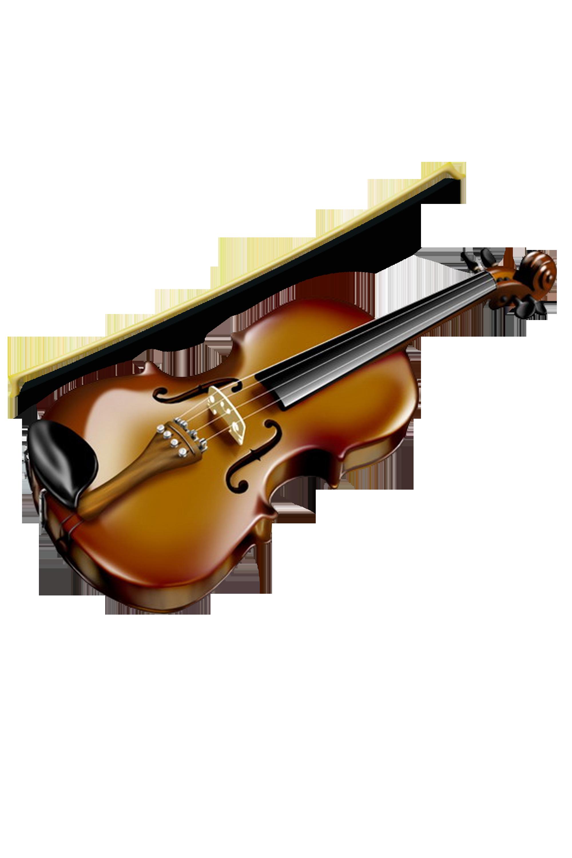 Download PNG image - Violin Clipart 581