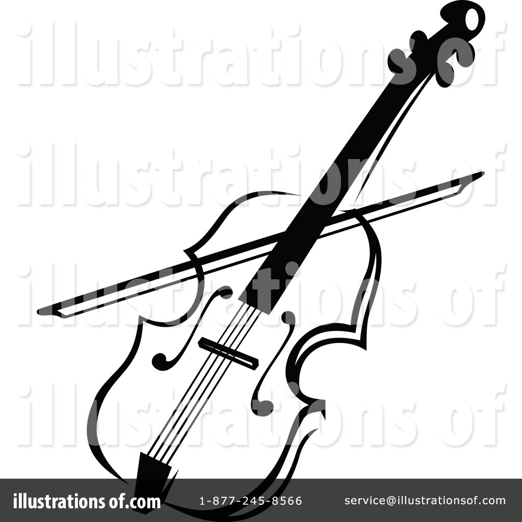 Royalty-Free (RF) Violin Clipart Illustr-Royalty-Free (RF) Violin Clipart Illustration by Vector Tradition SM -  Stock Sample-12