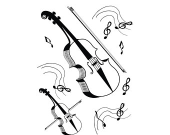 Violin, Violin SVG, SVG, Fiddle SVG, Cricut, Silhouette Cameo, ScanNCut