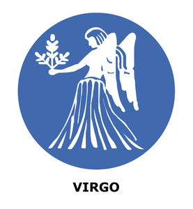 Astrology Clipart Image: Virgo the Virgin Sign of the Zodiac