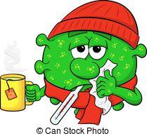 . ClipartLook.com cold virus is sick - vector illustration of a cold virus is. ClipartLook.com ClipartLook.com