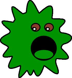 Green Virus Clip Art