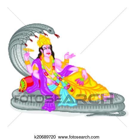 Clipart - Lord Vishnu. Fotosearch - Sear-Clipart - Lord Vishnu. Fotosearch - Search Clip Art, Illustration Murals,  Drawings and-2